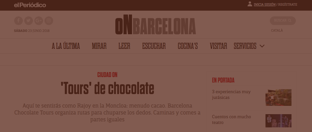 Barcelona Chocolate Tours in El Periodico