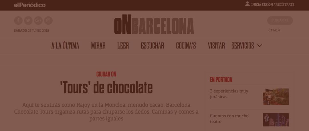 Barcelona Chocolate Tours en El Periodico
